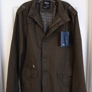 New Men's X-Large Wantdo Army Green Cotton Jacket